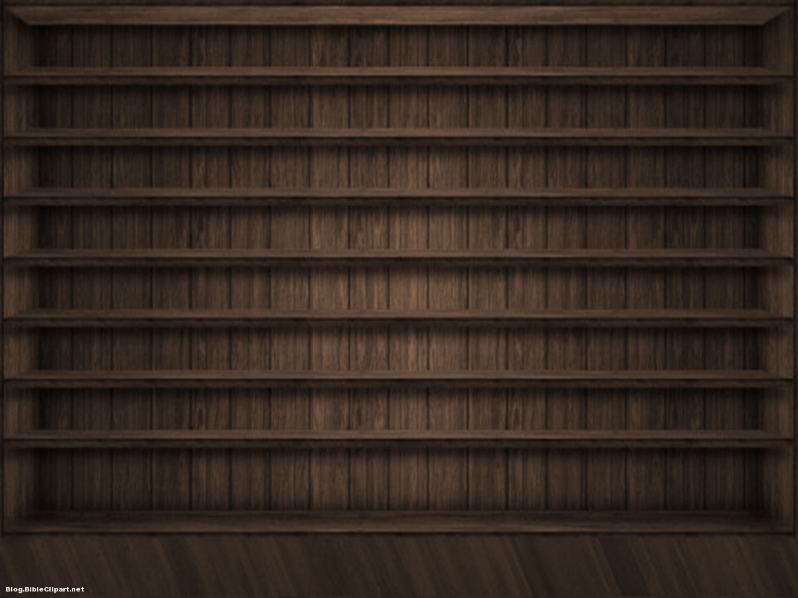Dark Brown Wood Bookcase Background