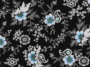 blue-flower-batik-background
