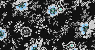 blue-flower-batik-background