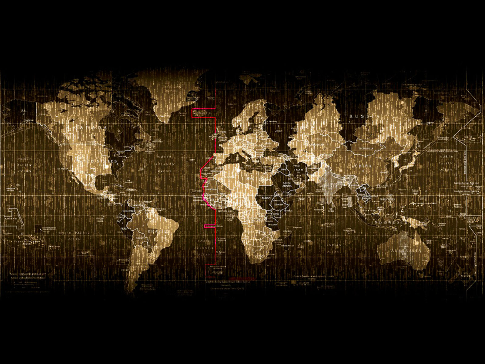 Matrix World Map Background