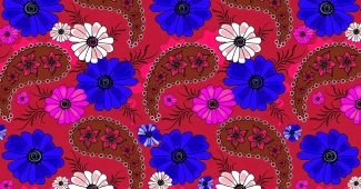 Batik Flower Pattern Background