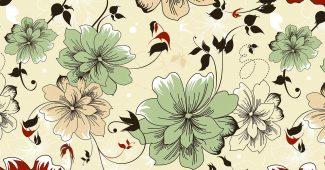 Batik Flower Pattern Background for Powerpoint