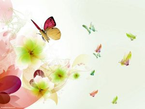Butterfly And Flower Painting Background