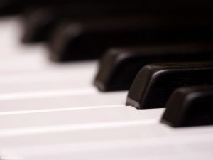 Close Up Piano Powerpoint Background