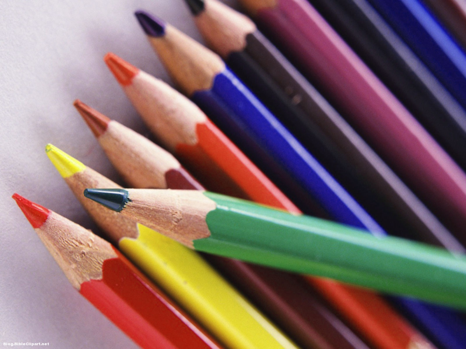 Color Pencil Back-to-School Background