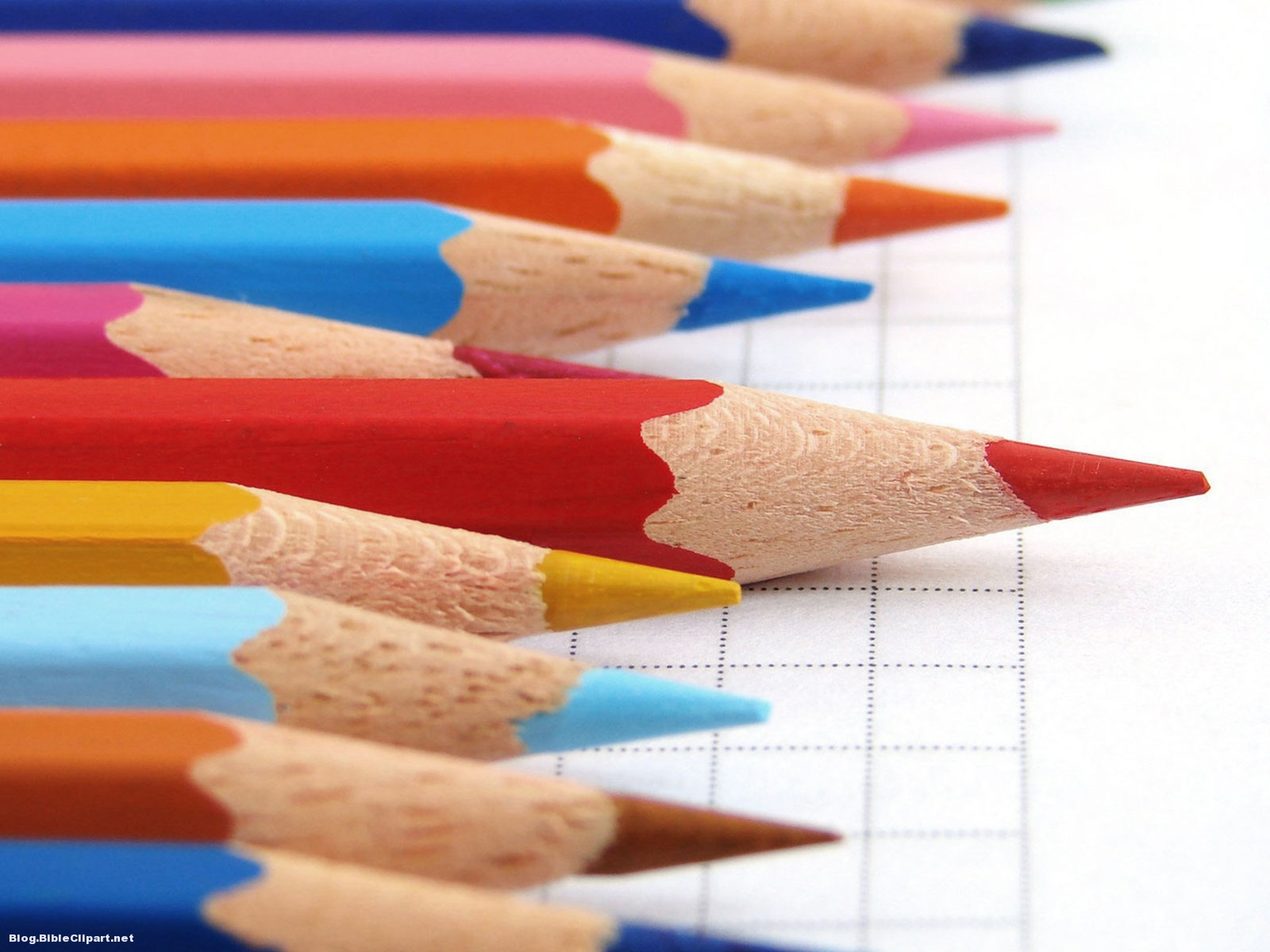 Color Pencil for School Background