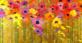 Colorful Flower Painting Powerpoint Background