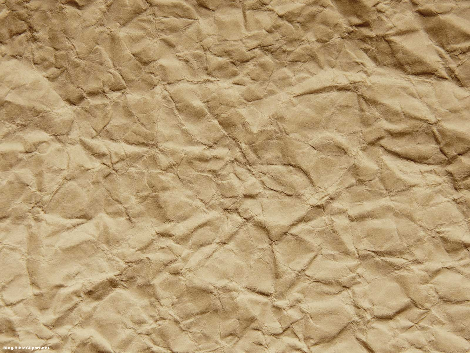 Crumpled Brown Paper Powerpoint Background