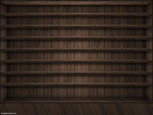 Dark Brown Wood Bookcase Background