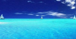 Deep Blue Sea Powerpoint Background