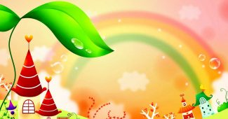 Fairy Tale Rainbow Children Background