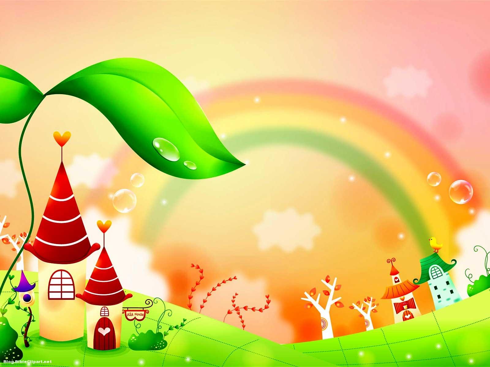Fairy Tale Rainbow Children Background