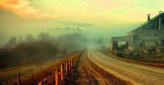 Farm Road Powerpoint Background