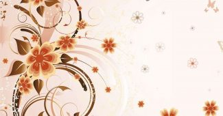 Floral And Butterflies Background
