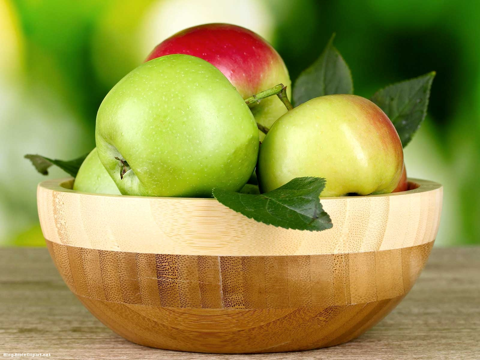 Green And Red Apple Background
