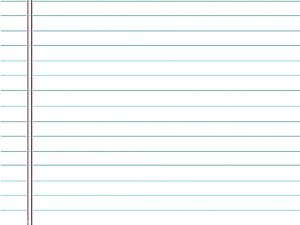 Lined Paper Note Powerpoint Background