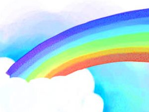 Rainbow And Cloud Powerpoint Background