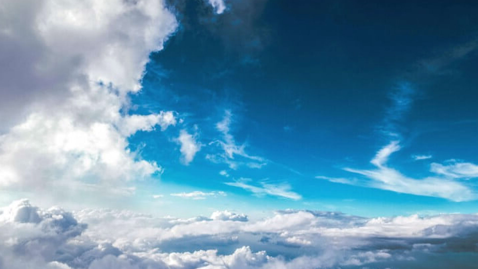 Blue Sky With Cloudy Background